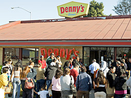 Even early in the day, a very unscientific poll made it appear that many Denny's restaurants were giving away upward of 1,000 breakfasts.