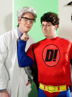 Dr. Drudgery (Mike Rosolio) and Dice Man (Andrew Goldenberg) will square off on 'National Lampoon's The Lemmings.'
