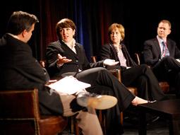 From left: Pete Blackshaw, Erin Mulligan Nelson, Vivian Schiller and Tom Cunniff.