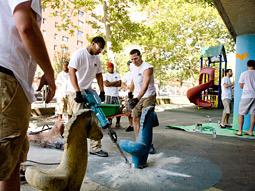 Digitas volunteers help restore schools in New York's Hamilton Heights community.
