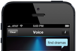 DirecTV voice search on an iPhone