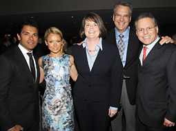 Discovery Network held its upfront presentation at New York's Time Warner Center. From left: TLC stars Mark Consuelos and Kelly Ripa; Eileen O'Neill, TLC president-general manager; Clark Bunting, Discovery Emerging Networks president-general manager; and David Zaslav, Discovery Communications president-CEO.