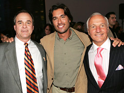 John Ford, president and general manager, Discovery Channel; Josh Bernstein, host of 'Expeditions with Josh Bernstein' and Joe Abrusseze, president-ad sales, Discovery Communications
