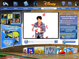 Disney.com was one of the three most visited sites among kids 2 to 11 in the U.S. in 2008.