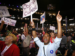 The 10 to 11 p.m. hour on the first night of the Democratic National Convention attracted approximately 22.3 million viewers, according to Nielsen Media Research.