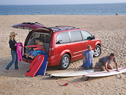 Dodge's new push for its bread-and-butter Caravan minivan makes a strong appeal to families.