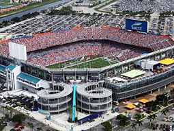 Super Bowl XLIV will be held at Land Shark Stadium, formerly Dolphin Stadium, in South Florida on Feb. 7, 2010.