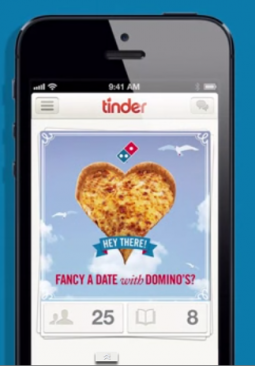 A Domino's campaign on Tinder.