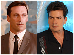 Mad Men's Don Draper and Two and a Half Men's Charlie Harper