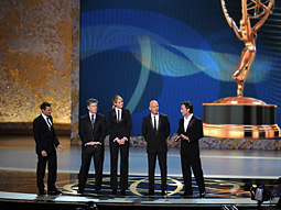 Reality show presenters Ryan Seacrest, Tom Bergeron, Heidi Klum, Howie Mandel and Jeff Probst: Exhibit A on why the networks won so few Emmys.