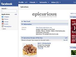 Epicurious on Facebook