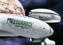 Esurance will use half the time in its upcoming 30-second TV spots to showcase 'Star Trek'-themed footage and the remaining 15 seconds to hype its service.
