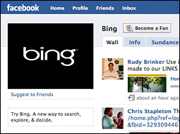 Bing's general manager, Jon Tinter, said more of Bing.com would be integrated into the social network.