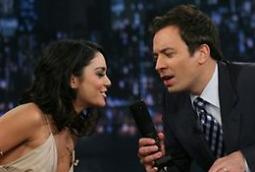 Vanessa Hudgens and Jimmy Fallon on 'Late Night'