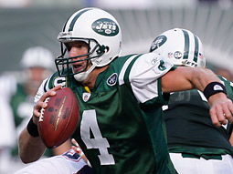 The usual Sunday ritual of NFL football, including Brett Favre's Jets losing to new New England quarterback Matt Cassel, was just one of the good games on Fox, CBS and NBC.