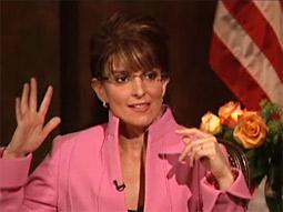 Tina Fey as Sarah Palin.