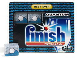 As RB hikes promotional spending, it's focusing on premium products like the company's Finish Quantum dishwashing tablets.