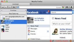 The Firesheep extension grabs free-floating cookies in Wi-Fi networks to gain access to other users' Facebook accounts.