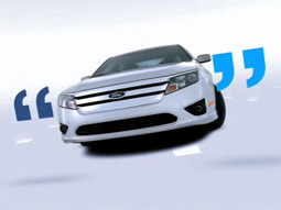 Ford's new campaign for its 2010 Fusion carries the theme 'We speak car.'