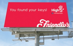 Friendly's billboard is part of the 'High 5' campaign