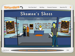Interact with shopkeepers and youngsters versed in basic consumer and business concepts at the FTC's new website.