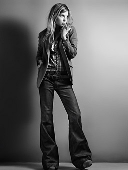 New print ads feature 'style-makers' such as Clemence Poesy