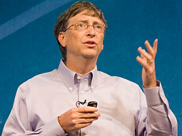Bill Gates speaking at the Microsoft Advance '08 confab.