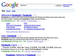 The unique visitors Google.com has driven to Facebook is up 198% year over year.