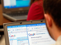 Google is providing its services to 4 million students at colleges and universities and is signing up new campuses at a rate of 70 to 75 a quarter.