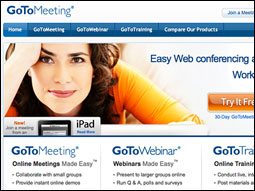 Citrix' GoToMeeting web-conferencing service traffic has doubled compared to pre-ash levels.