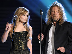 Alison Krauss and Robert Plant perform at the 51st-annual Grammy Awards.