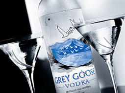 Volumes of superpremium brands, like Grey Goose vodka, grew 1.7% this year, compared with an 11.3% gain a year earlier.
