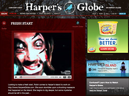 The Harper's Globe site asks -- nay, demands! -- that users interact with and comment upon every aspect of its videological being.