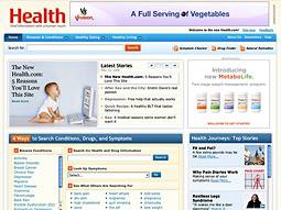 The new Health.com will include wide-ranging content provided by Healthwise, a nonprofit provider of consumer health information.
