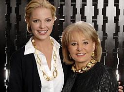 Katherine Heigl and Barbara Walters
