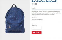 New Hillary 2016 backpack geared toward college students.