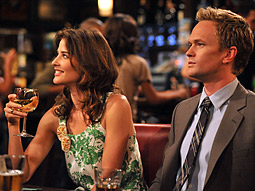 A first-run episode of 'How I Met Your Mother' helped CBS win Monday.