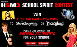 The contest to promote 'High School Musical 3' on MySpace has entire high-school graduating classes nationwide vying for a chance to win a trip to a Walt Disney resort and a celebrity pep rally featuring U.K. singer Natasha Bedingfield.