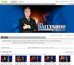 Hulu is feeling pressure from its partners to erect a pay wall which would allow the web video provider to get some of the cable programming it covets, such as 'The Daily Show' which Viacom pulled off the service last month.