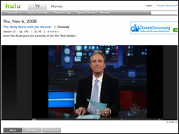 A few exceptions have occurred recently on the cable network side, most notably from Viacom's Comedy Central, which has made the entire libraries of full-length episodes of many shows, including 'The Daily Show With Jon Stewart,' available online for free, ad-supported streaming.