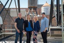 L-R: Brian Drewes, Meg Bailey, Kathrin Lausch, Micah Scarpelli