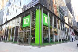 A TD Bank branch in Manhattan.