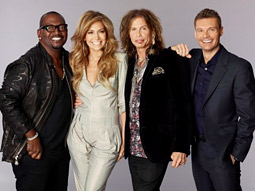 'American Idol' judges (from l.) Randy Jackson, Jennifer Lopez, Steven Tyler and host Ryan Seacrest.