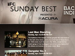 Acura sponsors IFC's 'Sunday's Best' movie series.