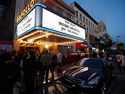 Infiniti will enjoy front-of-venue placement and title sponsorship on the marquee at the Apollo Theater for the Sundance Channel's 'Spectacle: Elvis Costello With...'.