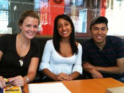 Margo, Lakshmi and Martin