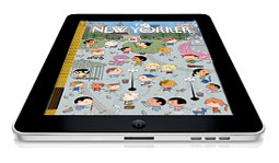 A mock-up of The New Yorker iPad app, which is expected later this year.