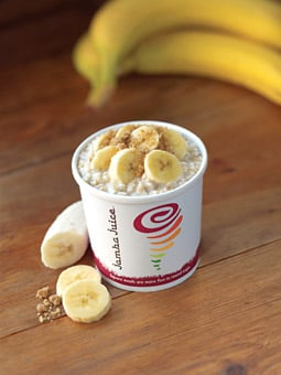 Jamba Juice's slow-cooked, 'steel-cut' organic oatmeal will be introduced in January.