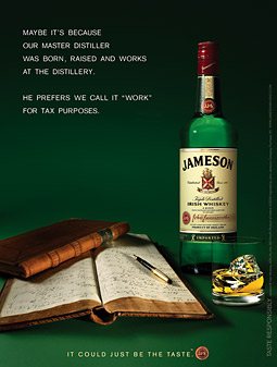 One Too Many? Nope, that whiskey ad actually is talking to you.