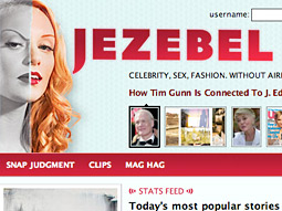 Jezebel analyzes and it attacks, with clunky gal-targeted pitches and moribund women's mags its primary targets.